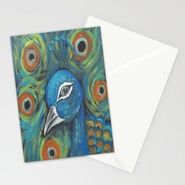 Peacock Head Stationery Cards