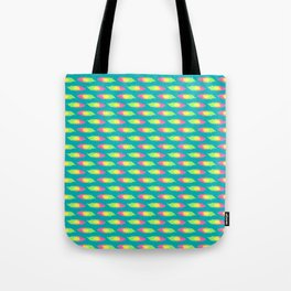 Tropical Green Feather Striped Surface Pattern Design Tote Bag