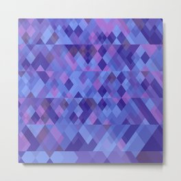 Geometric mosaique Metal Print