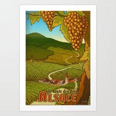 Alsace Travel Poster (Route des Vins) Art Print
