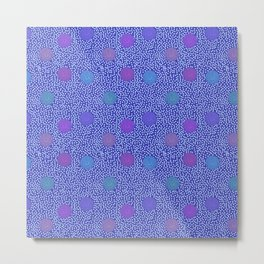 BOJANGLES, VINTAGE RETRO DOTS: BLUE MONDAY Metal Print