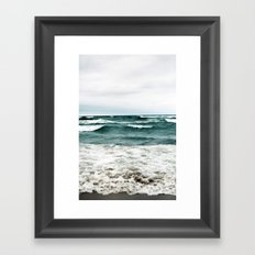 Turquoise Sea #1 Framed Art Print