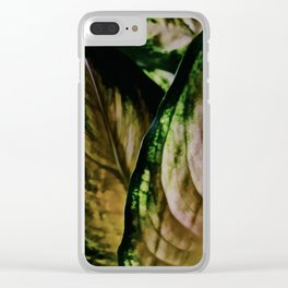 Lush Glow, Dieffenbachia Clear iPhone Case