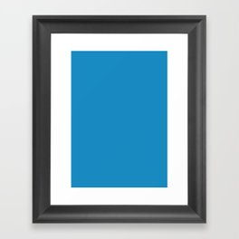 Cyan cornflower blue Framed Art Print