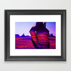 Deserted Land: Projection Series #3 Framed Art Print