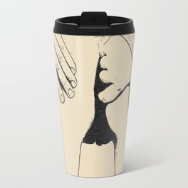 Adult! Naughty finger, kinky booty view, bad girl love to do bad things, sexy black and white erotic Travel Mug