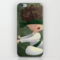 ninja iPhone & iPod Skins featuring Ninja by Miuska