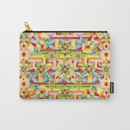 Rainbow Carousel Starburst Carry-All Pouch