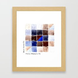 Color Chart - Burnt Sienna (DS) and French Ultramarine (DS) Framed Art Print