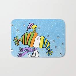 Chrsitmas Snoopy cold weather Xmas Bath Mat
