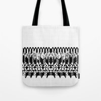notebook Tote Bags featuring School notebook  by Eva Bellanger