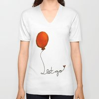 let it go V-neck T-shirts featuring Let go by Whatcha-McCall-it