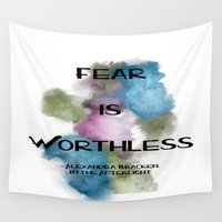 fear Wall Tapestries featuring Fear by Forever Bookish Things