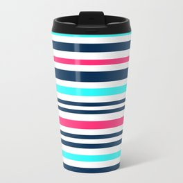 Striped multi-colored3 Metal Travel Mug