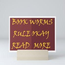 Book Worms Rule Okay Mini Art Print