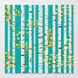 Birch wood Canvas Print