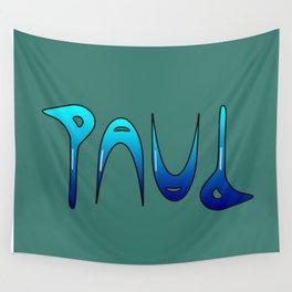 Paul (Ambigram) Namendreher Wall Tapestry