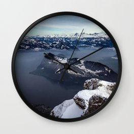Lake Lucerne & the Alps Wall Clock