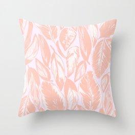 Calathea pale Throw Pillow