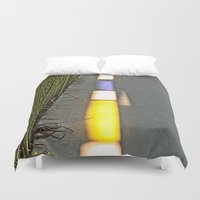 library Duvet Covers featuring Library Line  by Ethna Gillespie