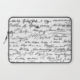 Famous Autographs of the late 1800s Laptop Sleeve