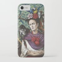frida kahlo iPhone & iPod Cases featuring Frida kahlo by Sophie Wilkins