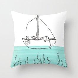 Sail + Sing Along Throw Pillow
