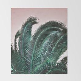Palm Tree Leaves Throw Blanket