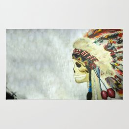 INDIAN WITH HEAD DRESS Rug