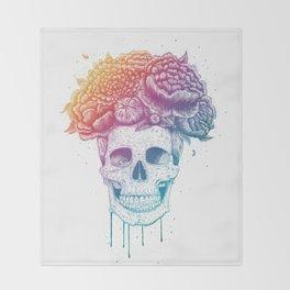 Color skull Throw Blanket