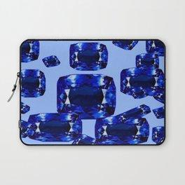Royal Blue September Birthstone Sapphires on Blue Laptop Sleeve