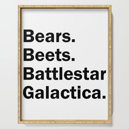 Bears Beets Battlestar Galactica Serving Tray
