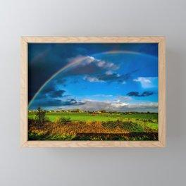 Rainbow over Ireland Framed Mini Art Print