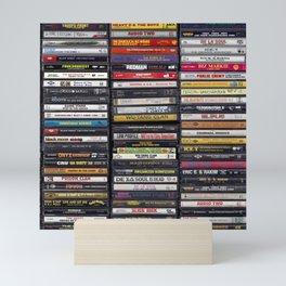 Old 80's & 90's Hip Hop Tapes Mini Art Print