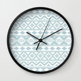 Aztec Essence Ptn IIIb Duck Egg Blue & White Wall Clock