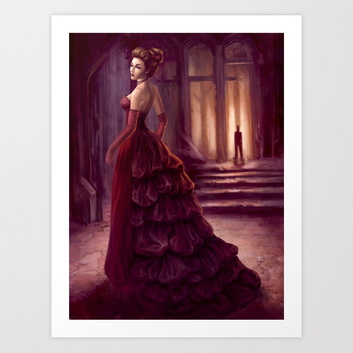 Don't Look Back - fantasy art Art Print