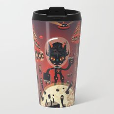 DJ Hammerhand cat - party at ogm garden Travel Mug