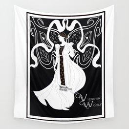 Virginia Woolf Art Nouveau Wall Tapestry