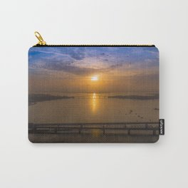 Sunrise Over Bridges Carry-All Pouch