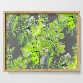 Chartreuse pattern Serving Tray