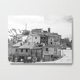 Italian mountain village Metal Print