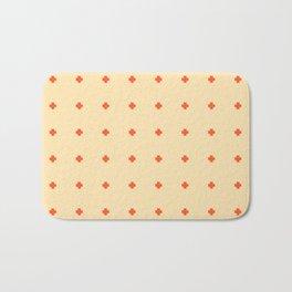 Red Orange Plus Pattern Bath Mat