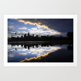 Sunrise on legendary Angkor Vat, Cambodia Art Print