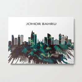 Johor Bahru Skyline Metal Print