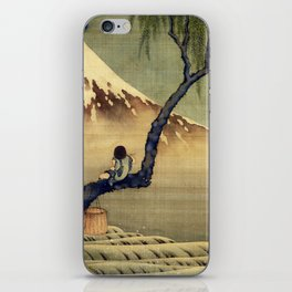 Katsushika Hokusai Boy Viewing Mount Fuji iPhone Skin