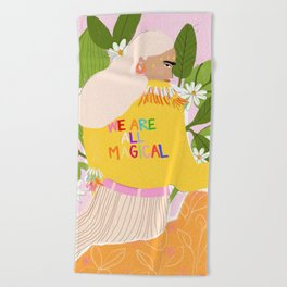 We are magical Beach Towel