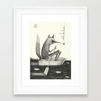lake Framed Art Prints featuring 'Across The Lake' by Alex G Griffiths
