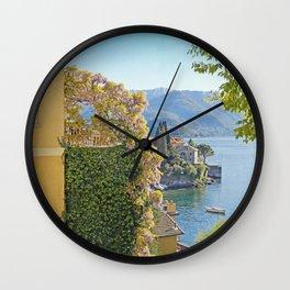 Varenna Vista, Lake Como Wall Clock