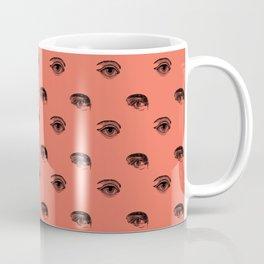 WATCHING YOU, CORAL Coffee Mug