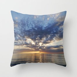 Sunset Over Clearwater Beach Throw Pillow